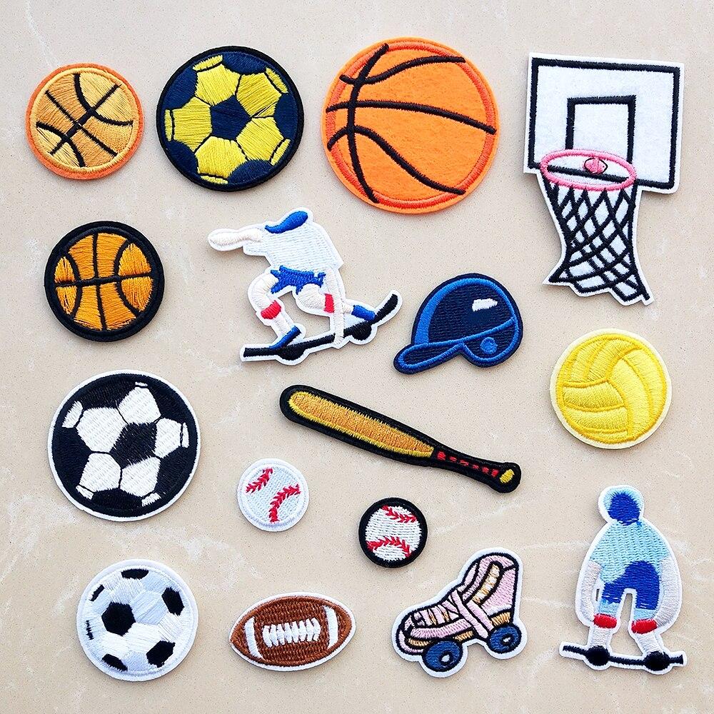 Top desen nakış yamaları giysi için demir on aplikler basketbol futbol çıkartmalar işlemeli rozetleri DIY yama beyzbol
