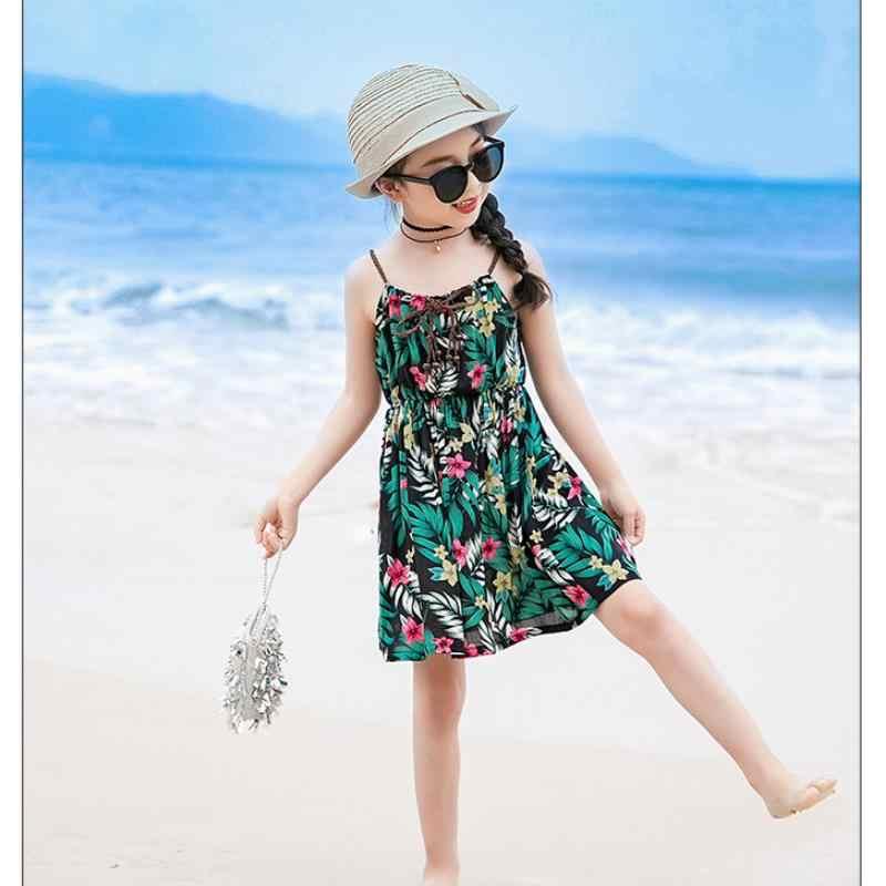 Женское сексуальное летнее платье с цветочным принтом для родителей и ребенка, женские длинные вечерние свободные пляжные платья с открытой спиной, Boho