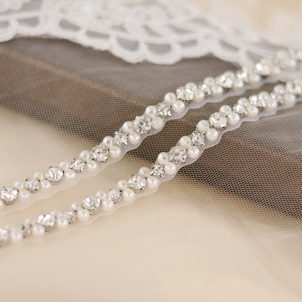 TRiXY S381 Elegant Pearls Belt Rhinestones Bridal Belt Crystal Wedding Belt Sash Bridal Dresses Accessories Wedding Sashes Belts