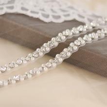 TRiXY S381 Elegant Pearls Belt Rhinestones Bridal Crystal Wedding Sash Dresses Accessories Sashes Belts
