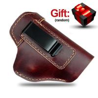 Concealed Leather Holster Carry Holster For Sig Sauer P226 SP2022 P229 P250 Glock 17 19 43 Beretta 92 Holster Accessorie|Holsters| |  -