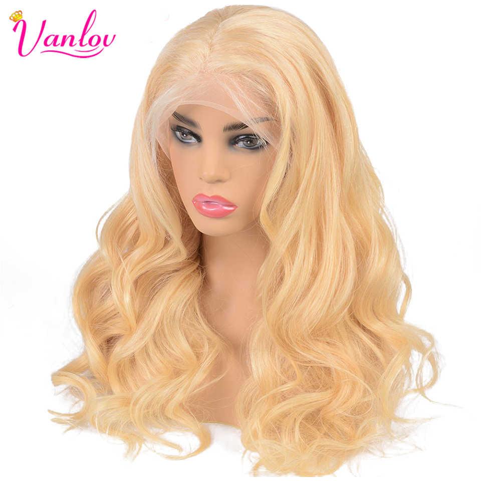 Peru Tubuh Gelombang 613 Renda Depan Wig Kerapatan 150% 613 Renda Depan Rambut Manusia Wig 13X4 Madu Rambut Pirang tubuh Gelombang Renda Depan Wig