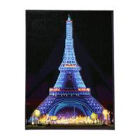 DIY Diamond Painting with LED Lights Creative Christmas Gift Eiffel Tower Decorative Painting for Home Living Room Bedroom Decor