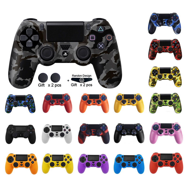 DATA FROG For SONY Playstation 4 PS4 Controller Protection Case Soft Silicone Gel Rubber Skin Cover For PS4 Pro Slim Gamepad(China)