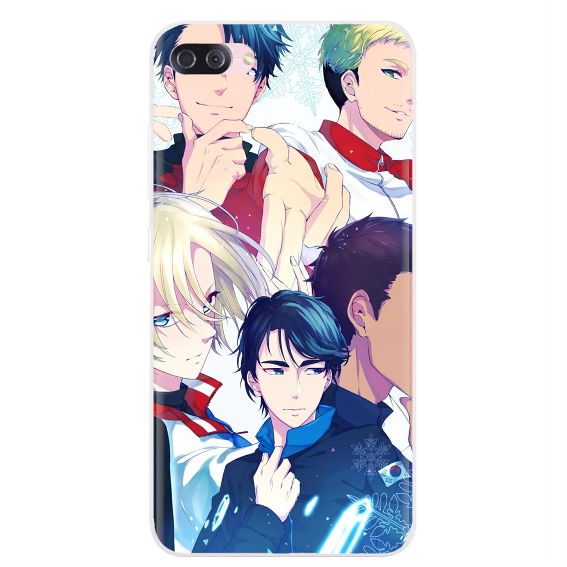 Personalized Silicone Phone Case Yuri On Ice Anime Wallpaper For