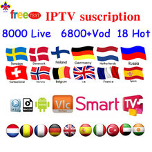 IPTV 8000Live Android tv box Iptv Subscription french arabic iptv iptv code link channel list mag stalker Android Mag Enigma2 PC(China)