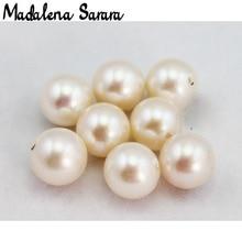 MADALENA SARARA A+ 8 9mm Grade Freshwater Pearl Round Natural White Brightness Luxury Pearl Bead For DIY Making