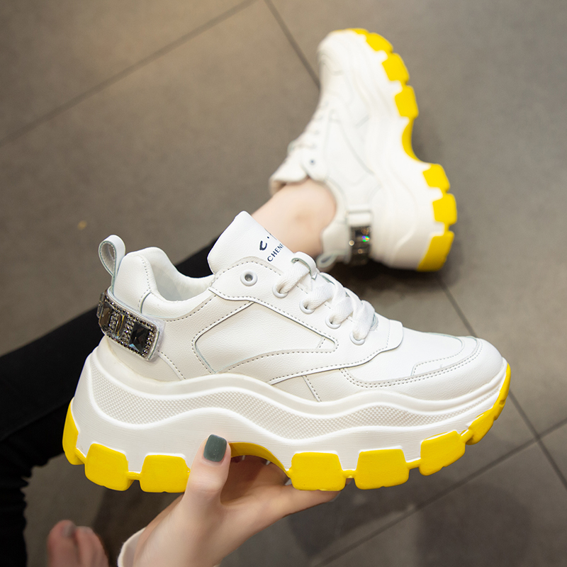 shoes Womens Sneakers Women's Designer Shoes Platform Woman 2019 Tennis Female Woman's Fashion Thick Summer Trainers PU Riband