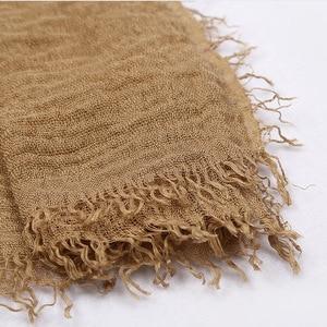 Image 5 - Bufanda de algodón suave para mujer, hiyab islámico, 180x70cm