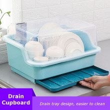 NEW! Large Dish Rack Kitchen Storage Holder Dinnerware Organizer Bowl Plate Portable Tableware Draining Rack Home Shelf Cupboard-in Racks & Holders from Home & Garden on AliExpress