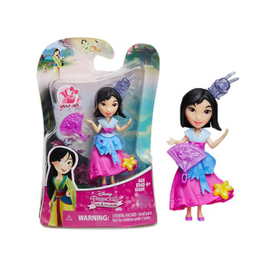 Image 3 - Disney Princess Belle Mulan Tiana  Merida Jasmine Rapunzel Ariel Pocahontas Cinderella Dolls Action Figure Model Toys for Girls