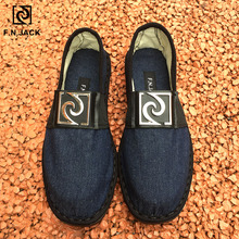F.N.JACK Espadrille semelles en caoutchouc pour hommes, chaussures en toile intelligente, vip link, chaussures de mode décontractée