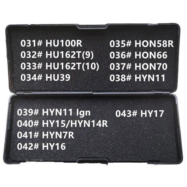 31 43 LiShi 2 w 1 HU100R HU162T9 HU162T10 HU39 HON58R HON66 HON70 HYN11 HY15 HYN7R HY16 HY17 ślusarz narzędzia dla wszystkich typów