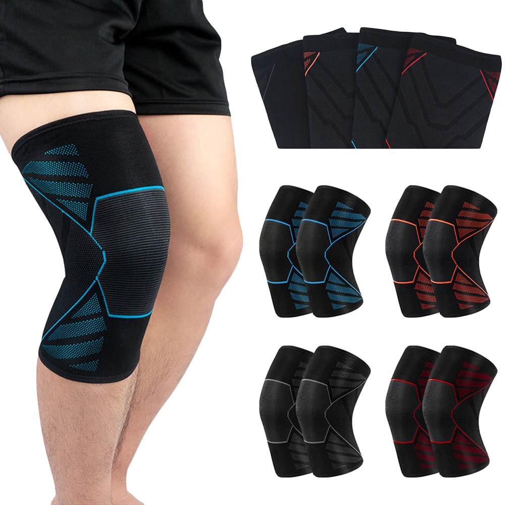 Sports Protection Knee Elastic Compression Non-slip Knee Sleeve Brace Support