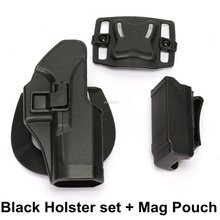 Táctico pistolera para el cinturón de liberación rápida militar Airsoft fundas de disparo funda para cinturón de caza para Glock 17 19 22 23 31 32