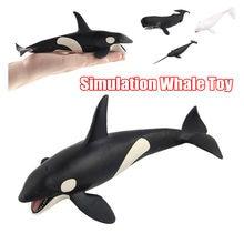 Jouet en forme de baleine réaliste, Simulation d'animal marin, modèle de baleine en caoutchouc souple, Mode de mouvement réaliste pour enfant