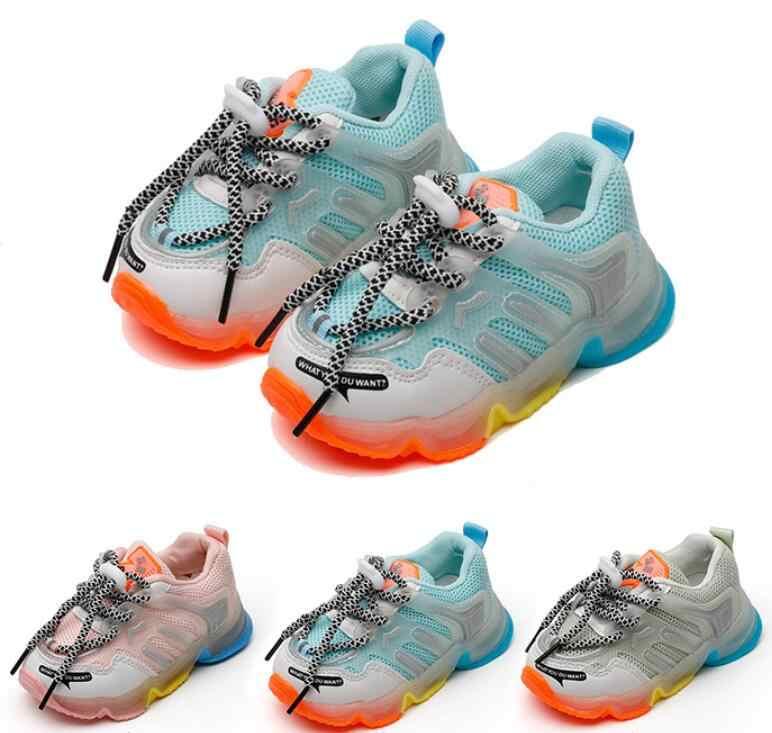 Children Boys Kids LED Light Up Sneakers Baby Toddler Running Walking Shoes