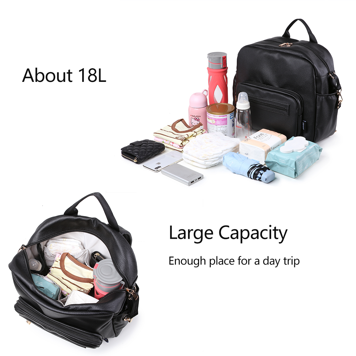 Soboba Diaper Bag for Newborn Baby Solid Multi-functional Waterproof Maternity Changing Bag for Baby Care Stroller Bag Fashion