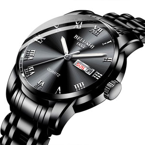 Image 3 - Belushi Gold watches Classics 2020 New Luxury Brand Watch Men Waterproof  Stainless Steel Man Watches Date Clock Erkek kol Saati