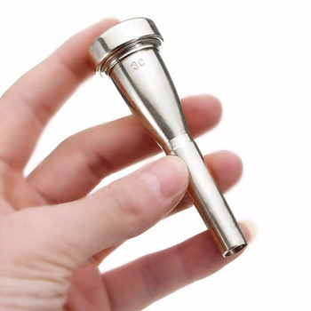 3C small mouthpiece silver-plated bullet head Baja mouthpiece trumpet mouthpiece for bach 7c size silver plated