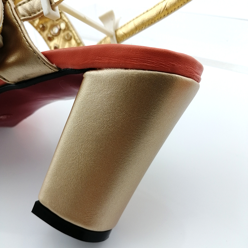 2019 African Spezielle Design Damen Schuhe und Tasche Set Weiß Farbe Italienisches design Schuhe mit Taschen Komfortable Heels Frauen Schuhe - 4