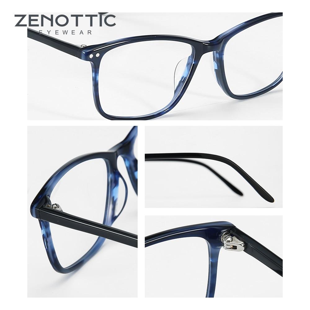 Image 5 - ZENOTTIC Acetate Women Glasses Frame Optical Spectacles Eyeglasses Fashion Design Myopia Glasses Eyewear BT3021Womens Eyewear Frames   -
