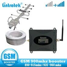 Lintratek 모바일 휴대 전화 신호 부스터 Yagi 및 whid 안테나가있는 2G GSM 900MHz 셀룰러 리피터 통신 증폭기