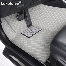 Kokololee Auto personalizado alfombrillas para el suelo del coche para jeep grand cheroki compass commander renegade impermeable accesorios para el coche pie mat(China)