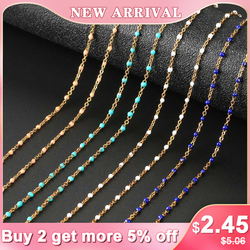 CSJA Fashion Women Stainless Steel Necklace Gold Color Beaded Chain Chokers Necklaces Chic Wedding Gift Collier Femme 2020 S673