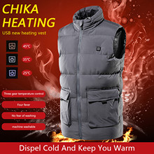 2021Winter Warm Men Women Heating Vest Usb Infrared Flexible Electric Outdoor Jacket подогрев аккумулятора Winter Warm Jacket cheap CN(Origin) Polyester waterproof Fashion Slim Fever vest peche en mer