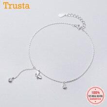 Anklets 925-Sterling-Silver 925-Jewelry Women Fashion Trustdavis Insect for Fine Tassel