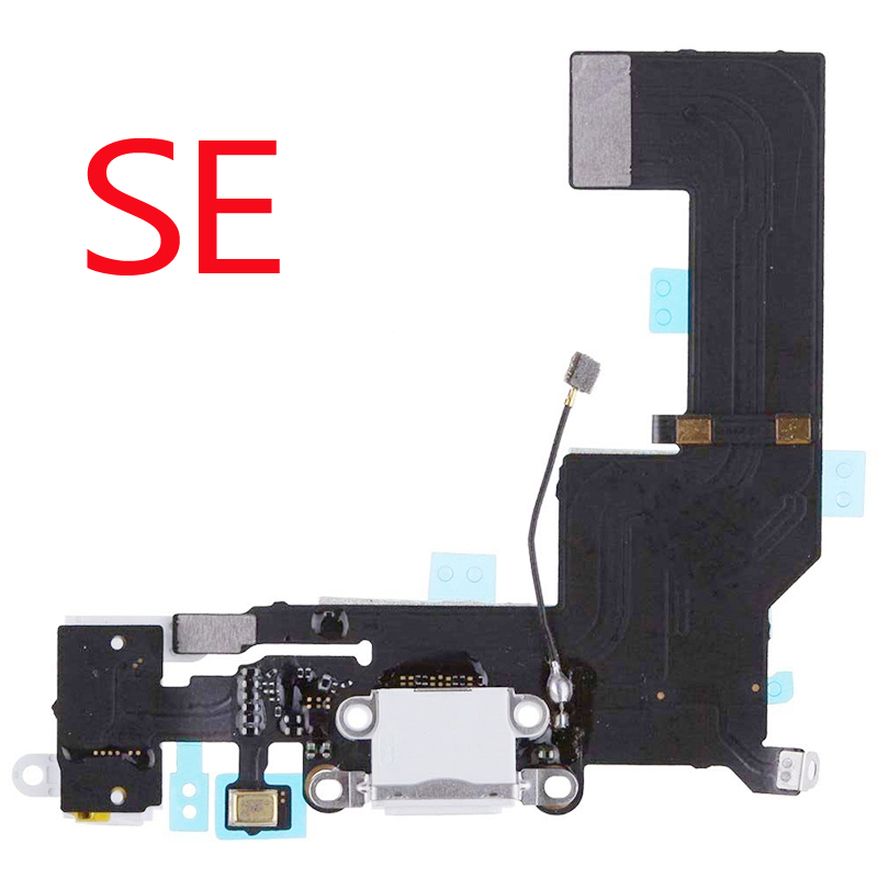 1pcs New For <font><b>iphone</b></font> SE USB Charging Port Dock <font><b>Connector</b></font> Flex Cable Microphone Headphone Audio Jack Replacement Part image