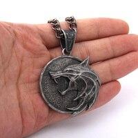 Новое поступление, подвеска в виде волчьей головы Ведьмака, ожерелье для гералта с дикой охотой, 3 фигурки