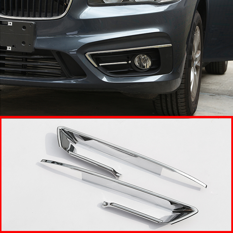 For BMW 2 Series F46 Gran Active Tourer 2015-2017 Silver Front Fog Lamp Trim