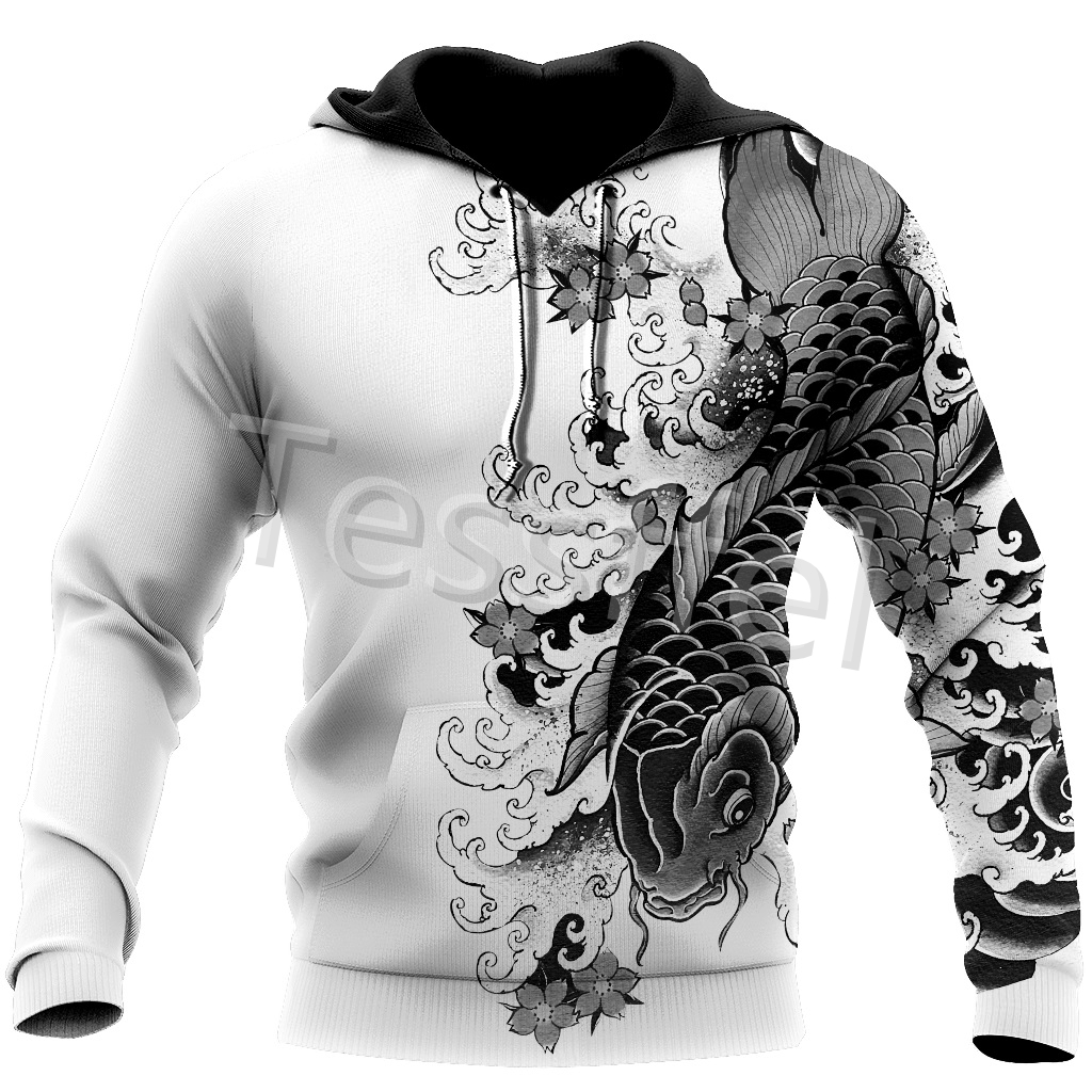Tessffel Japan Samurai Tattoo 3D Printed New Men's Sweatshirt Harajuku Zipper Hoodie Casual Unisex Jacket Pullover Style-7 5