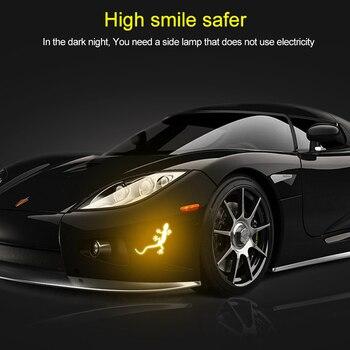 Tiras reflectantes para coche, cinta de advertencia en forma de Gecko, pegatinas reflectantes, marca para conducción nocturna ALS88