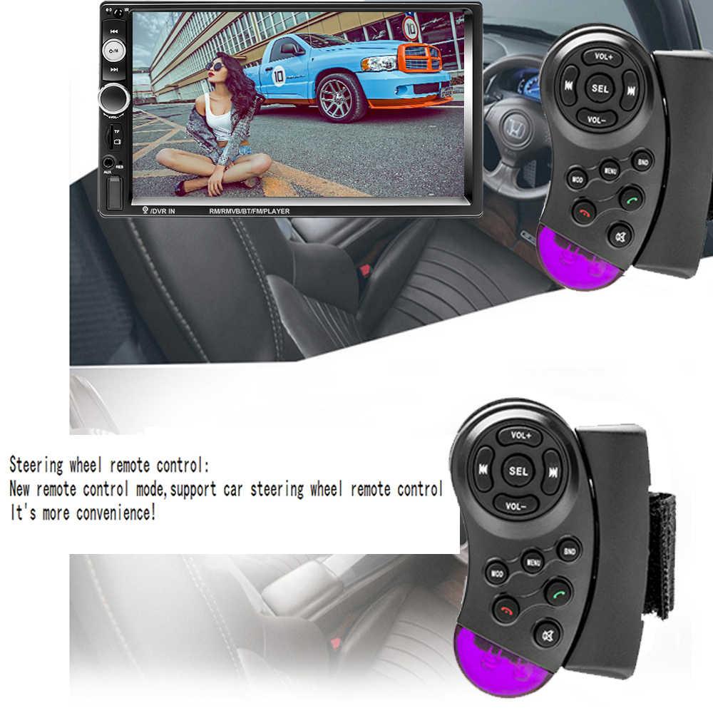 """Podofo 2 喧騒車のラジオ 7 """"HD Autoradio マルチメディアプレーヤー 2DIN タッチスクリーンの自動オーディオ、カーステレオ MP5 Bluetooth USB TF FM カメラ"""