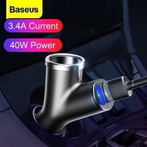 Image 1 - Зарядное устройство Baseus автомобильное с двумя USB портами и поддержкой быстрой зарядки
