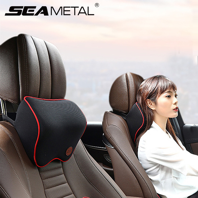 Car Neck Headrest Pillow Cushion Auto Seat Head Support Neck Protector Automobiles Seat Neck Rest Memory Cotton Car Accessories