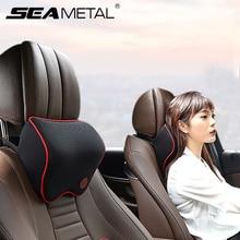 Samochód szyję głowę poduszka poduszka fotel samochodowy zagłówek ochraniacz szyi siedzenia samochodowe zagłówek pamięci bawełniana motyw samochodu akcesoria