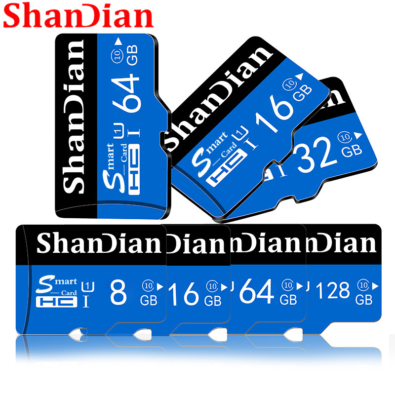 SHANDIAN Memory Card SD card 256GB 32GB 64GB 128GB 512G SDHC SDXC Grade TF SD Cards high speed free shipping image