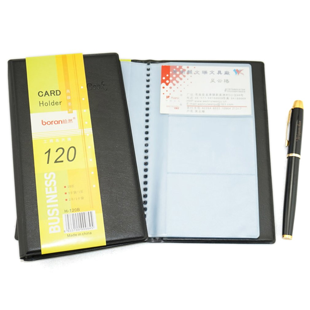 Large-capacity Business Card Book ID Card Holder Case PVC Leather Large Capacity Wear Resistance ID Card Holder Case 120