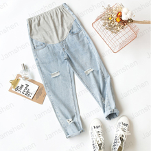 2020 New Maternity Pants Thin Section Stomach Lift Ultra-Thin Denim Pants Pregnant Women Jeans for Pregnant Women