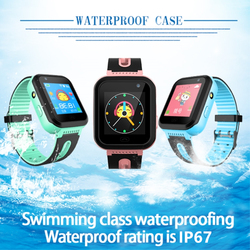 Kids watch GPS tracker watches SOS location waterproof IP67 flashlight Camera Android IOS boy girl Smart clock S7