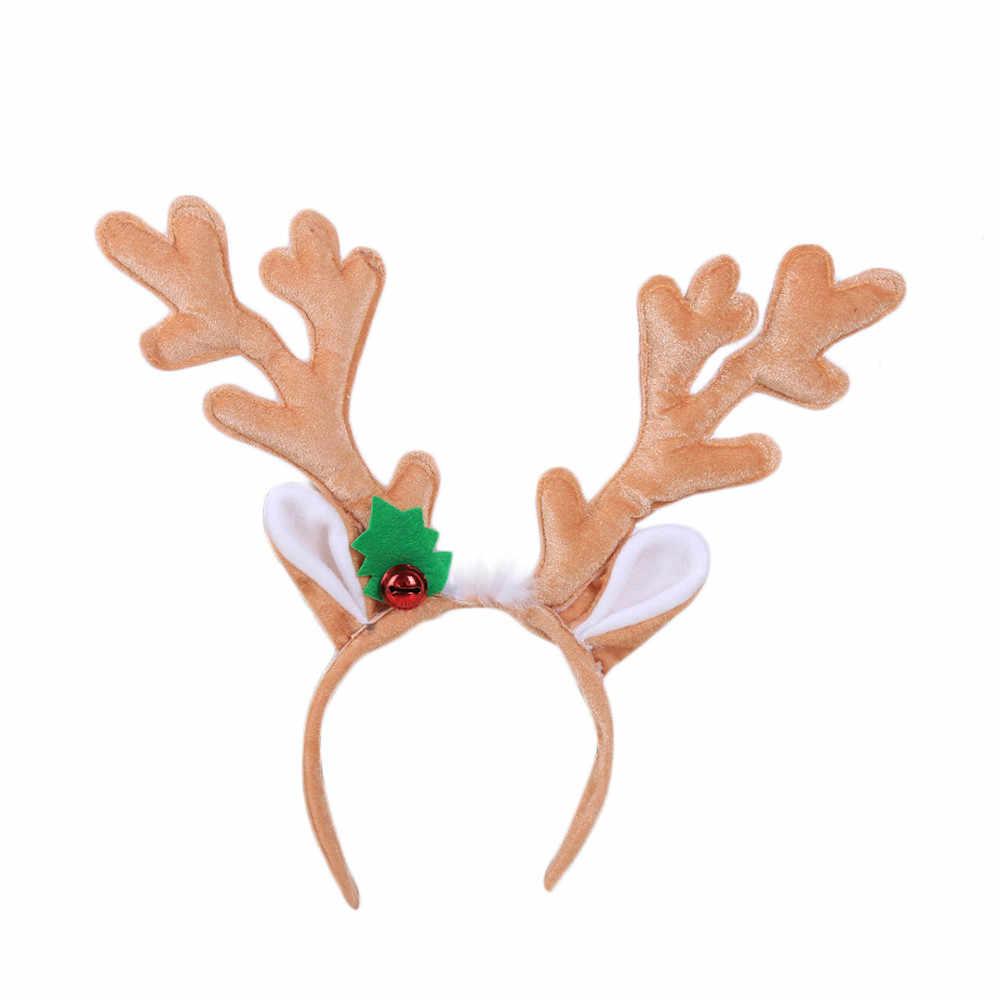 Горячая Распродажа 1 шт. Рождественская повязка на голову Рождественская шапка Санты повязка на голову застежка головной убор наголовный обруч ободок для вечеринки наголовный обруч Рождественский подарок Прямая 95