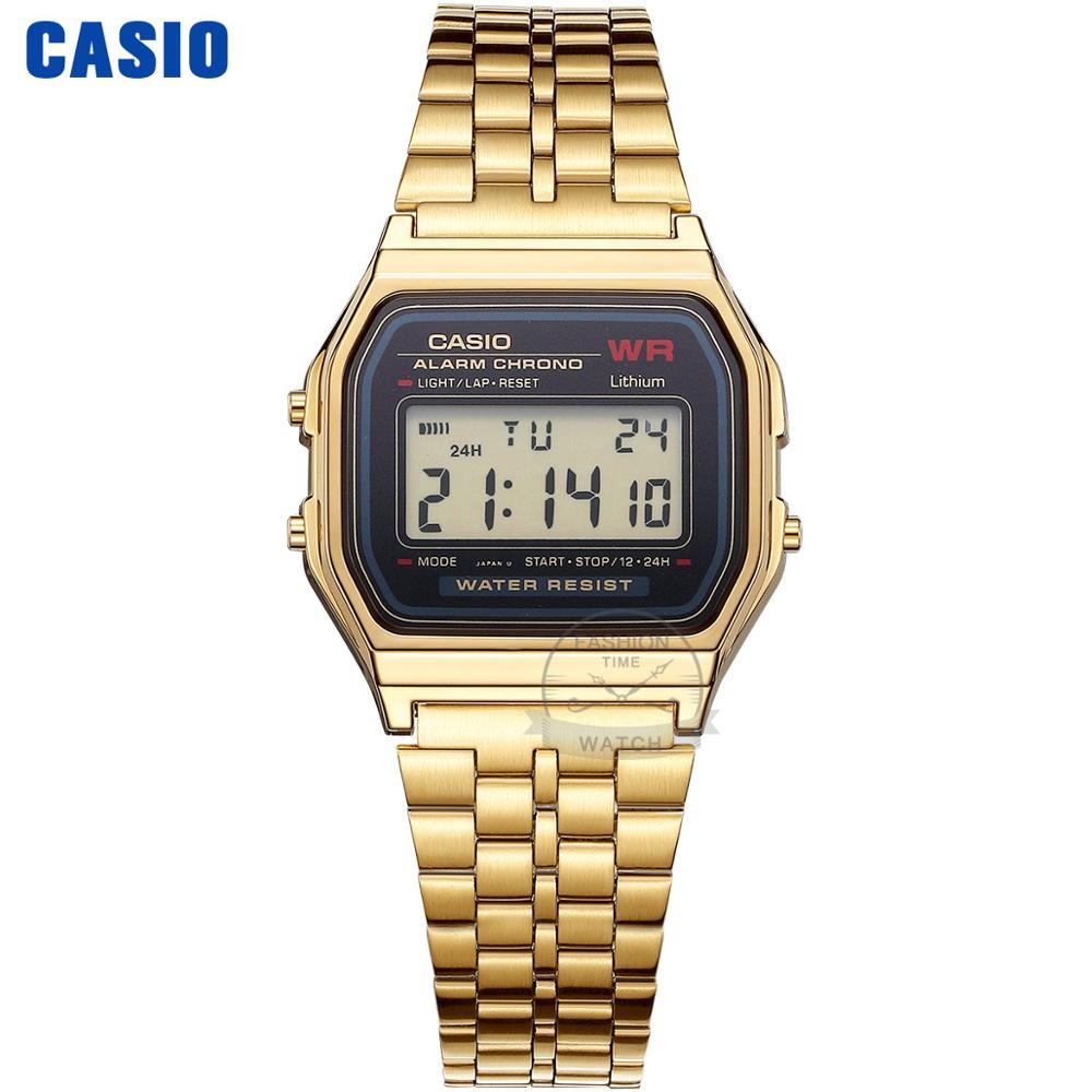 Zegarek Casio złoty zegarek mężczyźni top marka luksusowy LED cyfrowy Wodoodporny zegarek kwarcowy mężczyźni Sportowy zegarek wojskowy relogio masculino reloj hombre erkek kol saati montre homme A168WG-9