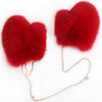 Перчатки из лисьего меха женские меховые перчатки женские перчатки из натурального меха лисы полностью из кожи и меха