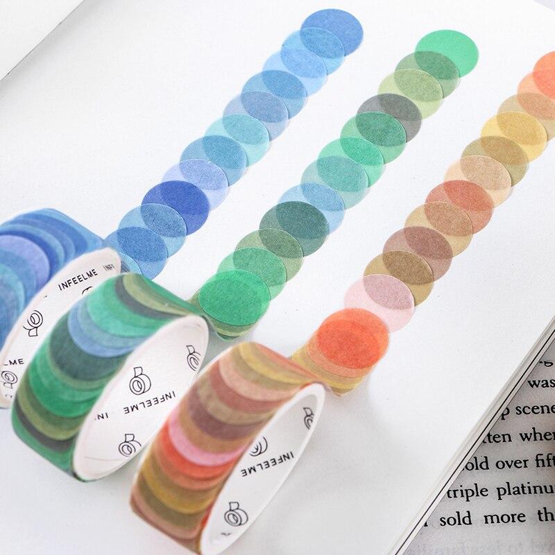 100 шт/14*14 мм много красочных точек васи лента японская бумага