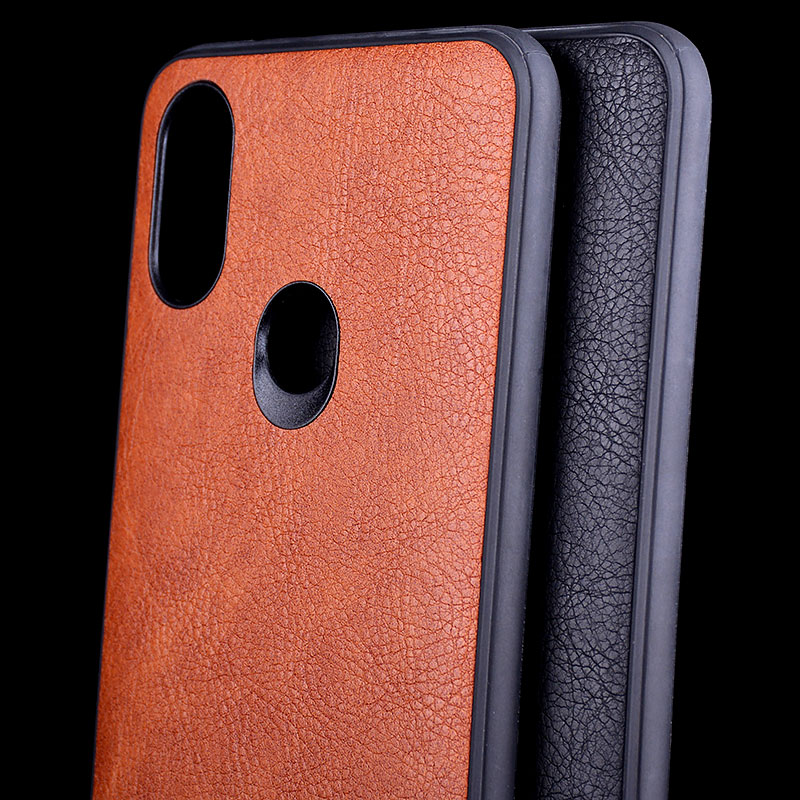 Case for <font><b>Xiaomi</b></font> <font><b>Mi</b></font> <font><b>A2</b></font> lite Vintage Leather Litchi skin soft TPU cove with <font><b>silicone</b></font> cover coque <font><b>capa</b></font> image