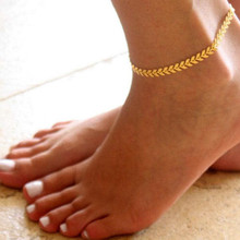 цены Simple Golden Color Anklet For Women Fashion Foot Jewelry Summer Beach Braclet Wholesale Jewelry